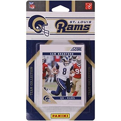 2011 Score St. Louis Rams Factory Sealed 13 Card Team Set. Players Include Steven Jackson, Sam Bradford, Mark Clayton, James Laurinaitis, James Hall, Donnie Avery, Danny Amendola, Chris Long, Brandon Gibson, Austin Pettis, Greg Salas, Lance Kendricks and