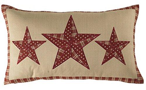 Sturbridge Patch Wine Triple Star Pillow ()