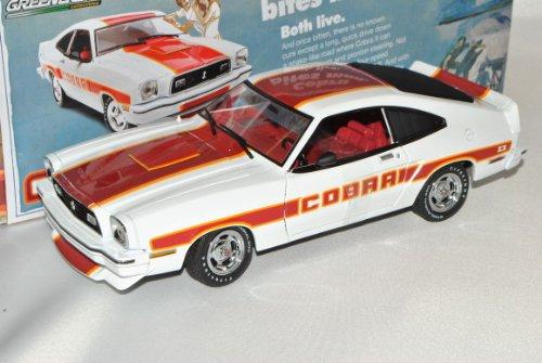 Ford Mustang II Cobra 1978 Coupe Weiss 1/18 Greenlight Modell Auto mit individiuellem Wunschkennzeichen