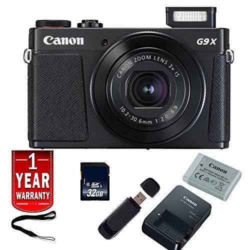 Canon PowerShot G9 X Mark II Digital Camera (Black) International Model Base Bundle Canon Powershot G2 Memory