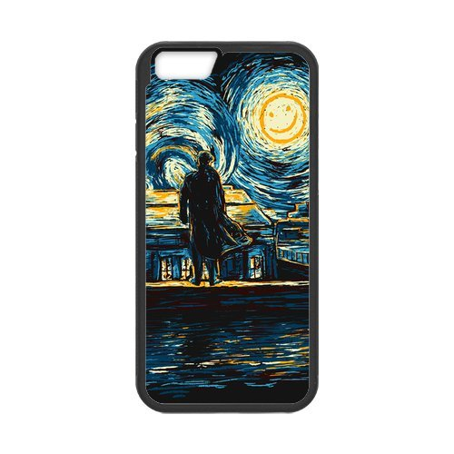 Fayruz- Personalized Protective Hard Textured Rubber Coated Cell Phone Case Cover Compatible with iPhone 6 & iPhone 6S - Sherlock F-i5G992
