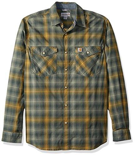 Carhartt Men's Rugged Flex Bozeman Long Sleeve Shirt, elm, Medium
