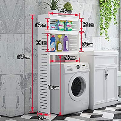 Estante de la lavadora Tablero plástico de madera 2, lavadora de 3 ...