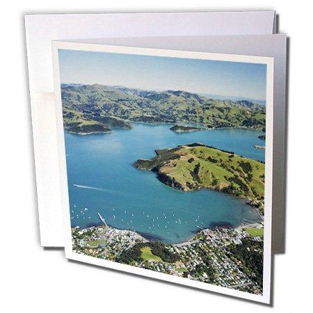 3Drose Danita Delimont   Harbors   Akaroa Harbor Banks Peninsula  South Island  New Zealand Au01 Dwa2392   David Wall   6 Greeting Cards With Envelopes  Gc 72534 1