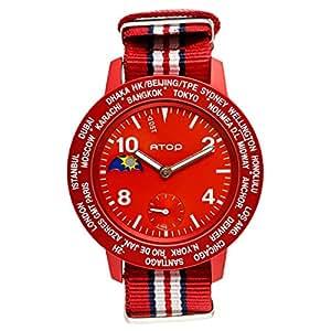 Atop World Time-AWA Canvas Series Unisex Casual Watch Canvas Strap - AWA-05-C0910