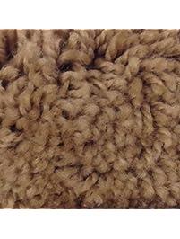 Mohawk Cut To Fit Plush Bath Carpet 5 By 6 Feet, Saddle Tan