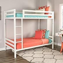 WE Furniture Premium Twin Metal Bunk Bed, White