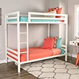WE Furniture Premium Twin Metal Bunk Bed, White