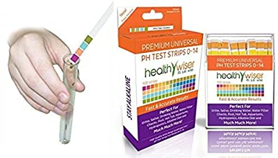 100-Count Worthy Popular pH Tester Strips Soil Food Indicator Universal Application Saliva and Urine Range 0-14pH with Color Chart