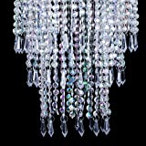 Sparkling Iridescent Beaded Chandeliers 8.6 inches