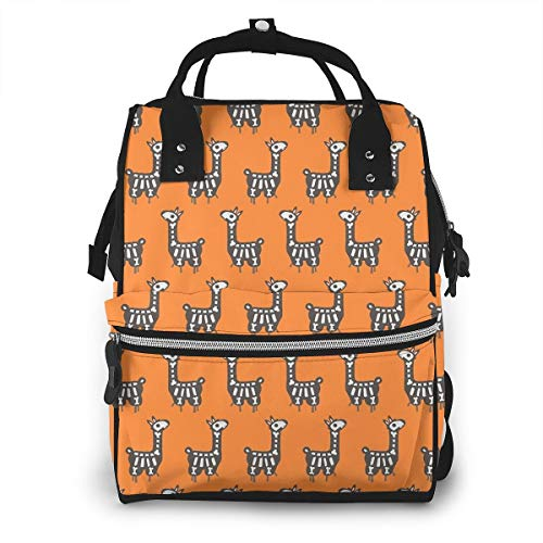 Halloween Llama Diaper Bag Backpack Maternity Baby Nappy Changing Bags Shoulder Bag Organizer Multi-Function Travel Backpack -