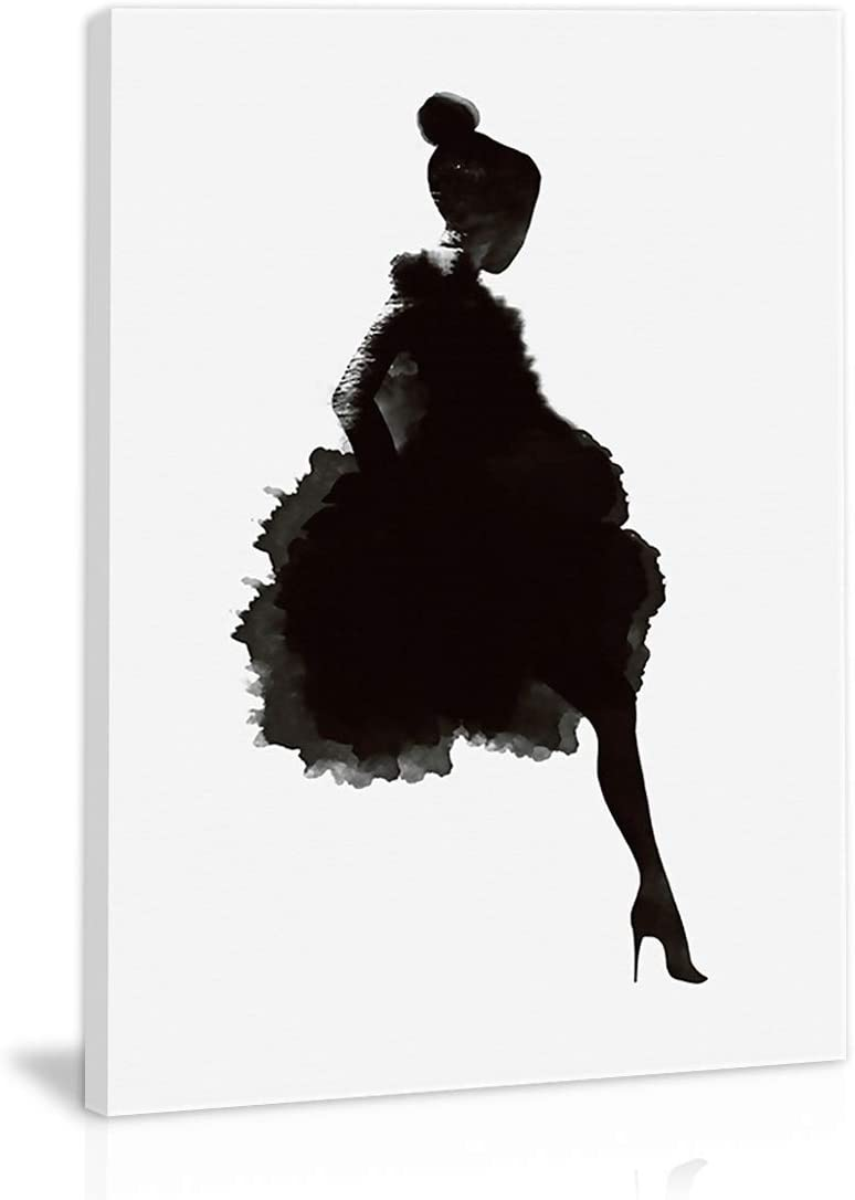 Black And White Abstract Girl Wall Art Decor Canvas Painting Kitchen Prints Pictures For Home Living Dining Room