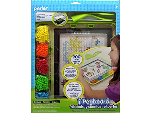 Perler Beads I-Pegboard Tablet Accessory Starter Kit (Fun Shapes Fuse Bead Kit)