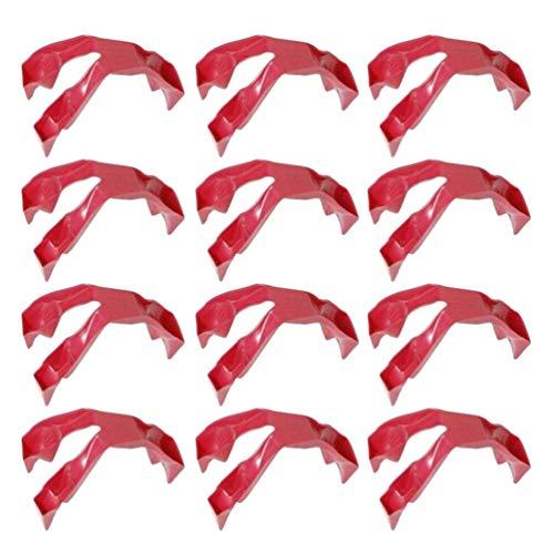 Yardwe 12PCS Trongs Prep Finger Prep Eating Trongs Guards for Eating Snacking - Finger Food Utensil Finger Cover Finger Protector for Home Kitchen Restaurant