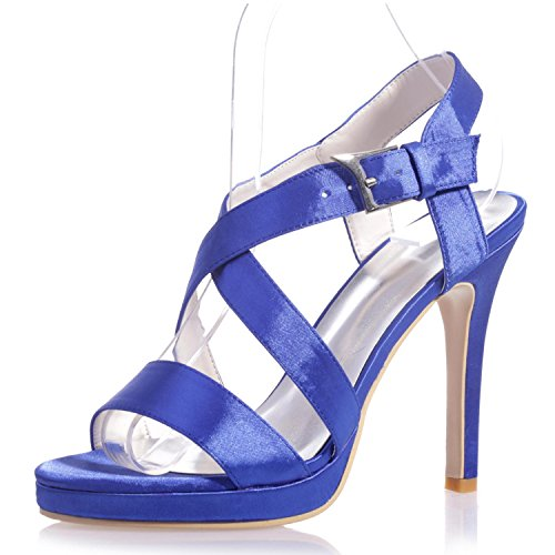 L@YC 5915-22 Women'S High Heels/Comfortable PU/Peep Toe/Night Party & Casual Comfort/a Variety Of Colors Blue 4YzvXU2R0