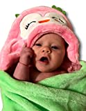Soft Boy or Girl Baby Blanket. Super-Plush Microfiber Fleece Animal Designs. Fab Birthday or Shower Gift! Warm Enough for a Newborn,Sturdy Enough for a Toddler Blankie. 30x36 + Hood