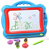 Magnetic Drawing Board, Tomons Travel Doodle Sketch Board Drawing Educational Toy for Kids to Draw on Magic Scribble Boards With Funny Stamps