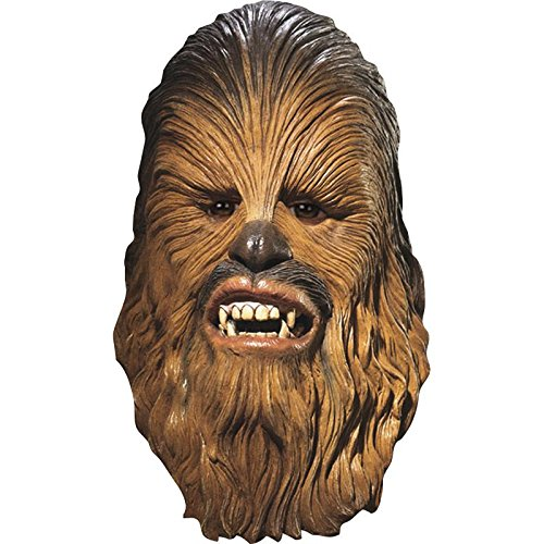 Han And Chewie Costume (Men's Star Wars Deluxe Latex Chewbacca Mask, Multicolor, One Size)