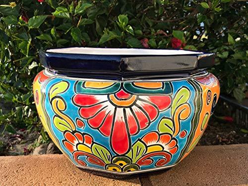 (TALAVERA Ceramic Octagon Flower Pot 13
