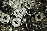 (500) SAE Plain Steel 5/8 Flat Washers - Unplated