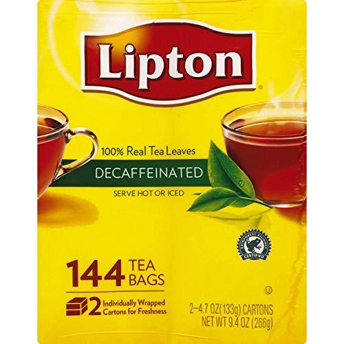 Lipton Tea Bags, Decaffeinated, 144 ct.( 2 PACK ) (Lipton Decaffeinated Tea Bags)