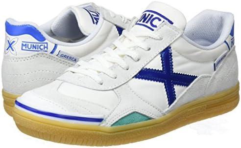Indoor Soccer//Futsal Shoe White//Blue MUNICH Gresca Kid 01 S