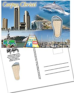 product image for Corpus Christi FootWhere Postcard. Made in USA.