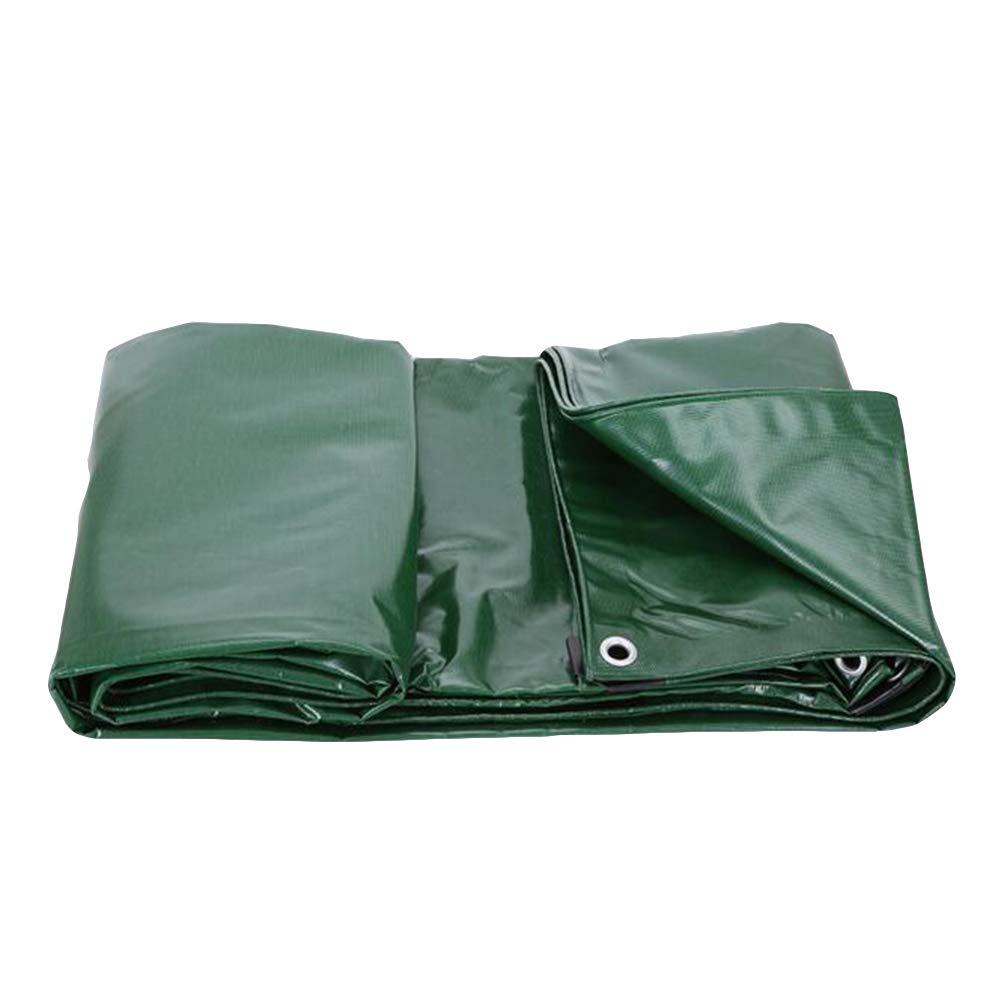 DALL ターポリン タープ 防水 PVCコーティング アウトドア 雨 サンシェード 絶縁 550g /m² (色 : 緑, サイズ さいず : 3×5m) 3×5m 緑 B07KWM7T3Y