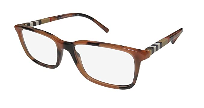 4c52c6da1d97 Eyeglasses Burberry BE 2199 3518 SPOTTED AMBER at Amazon Men's ...