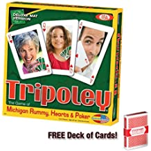 Tripoley Deluxe Mat Edition Card Game w/Free Deck of Standard Playing Cards by Brybelly