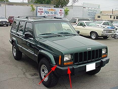 Amazon Com Depo 1997 2001 Jeep Cherokee Xj Clear Corner Lights