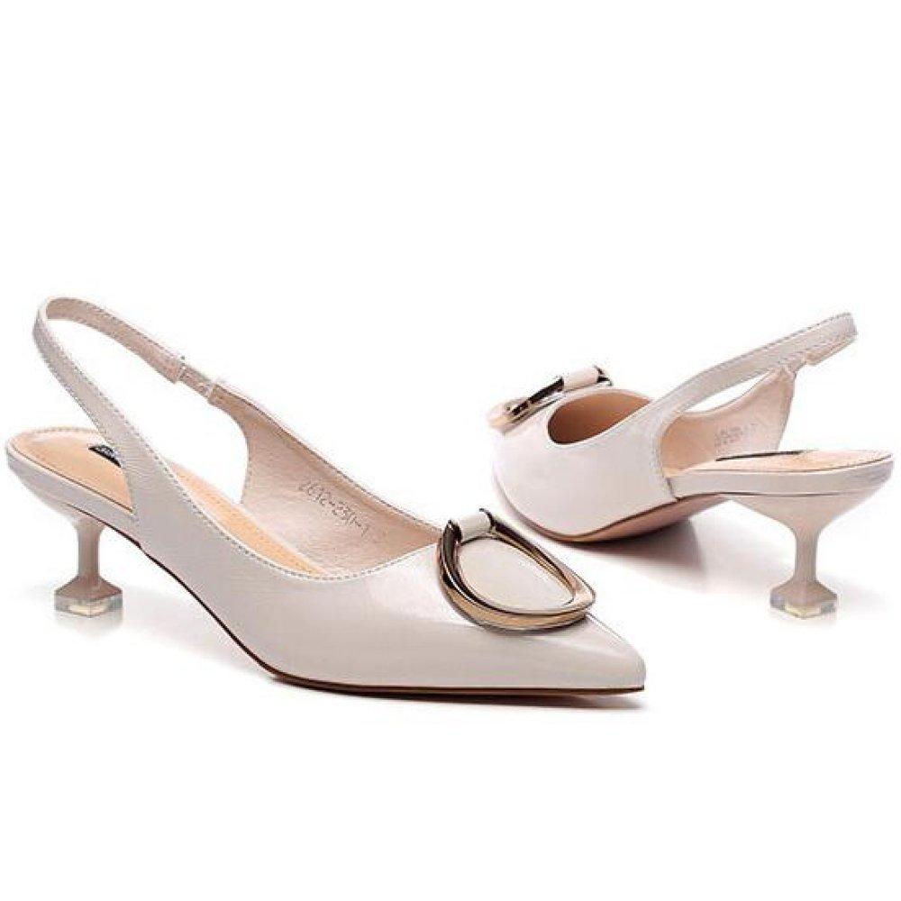 YongBe Damen Spitz Sandalen Kitten Heel Spitz Damen Slingback Dress Court Schuhe Pumps Hochzeit Casual Beige 90abd3