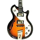 Italia Mondial Woody II 6 String Electric Guitar - Tobacco Sunburst
