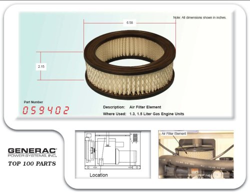 059402 - Generac Guardian air cleaner by Generac