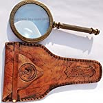 MAH 11 cm Big Steam Punk Traditional Round Antiques Reproduction Brass Magnifying Glass. C-3024 8