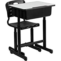 2pcs Children Learning Desk and Chair Desk and Set Height Adjustable Correcting Sitting Posture Students Writing Table