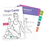 YOGA CARDS – Premium Visual Study, Class Sequencing & Practice Guide with Essential Poses, Breathing Exercises & Meditation · Plastic Flash Cards Deck with Sanskrit by WorkoutLabs (Women)