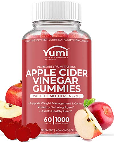 Apple Cider Vinegar Gummies with Raw Organic Acv from The Mother, Paired with Vitamin B, Pomegranate & Beet Juice Powder…