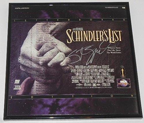 steven-spielberg-schindlers-list-hand-signed-autographed-laserdisc-movie-framed-loa