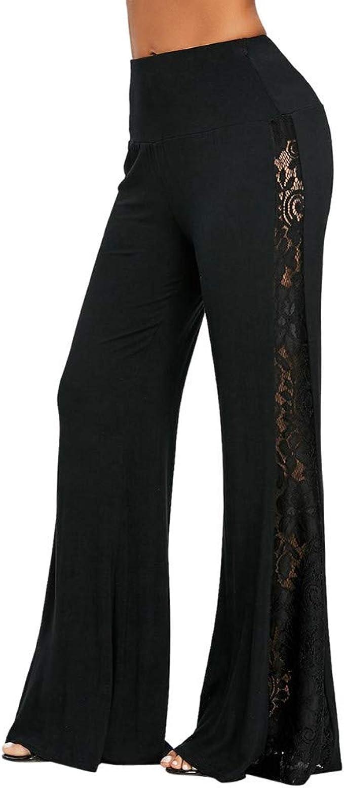 Amazon.com: Dunacifa - Pantalones de cintura alta para mujer ...