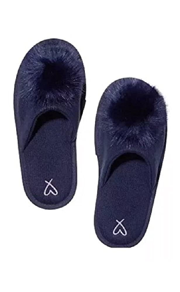 38c2dfd251884 Victoria's Secret. Sleep Pom-Pom Slippers Navy Blue Size L (9-10)