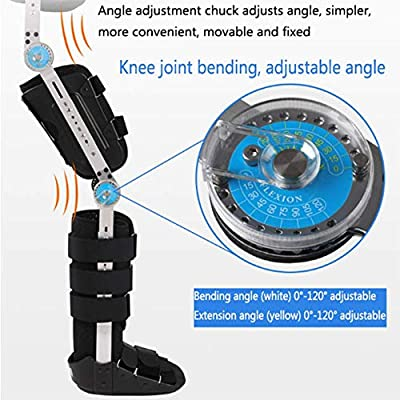 Hip and Knee Ankle Orthosis - Hip Replacement Femoral Fracture with Preoperative/Postoperative Adjustable Orthosis Fixed Brace,White,L