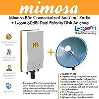 Mimosa B5c Connectorized Backhaul Radio + 30dBi Dual Polarity Dish Antenna