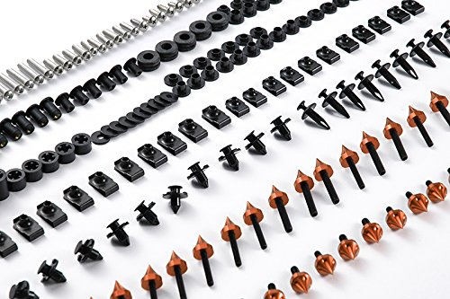 Moto Onfire 118Pcs Orange Fairing Bolt Kit Fasteners Screws For DUCATI SUPERSPORT 620 750 900 1991-1998