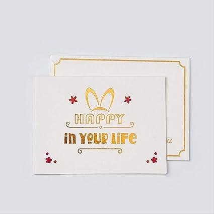 Tarjeta de felicitación dorada simple de 40 piezas Tarjeta ...