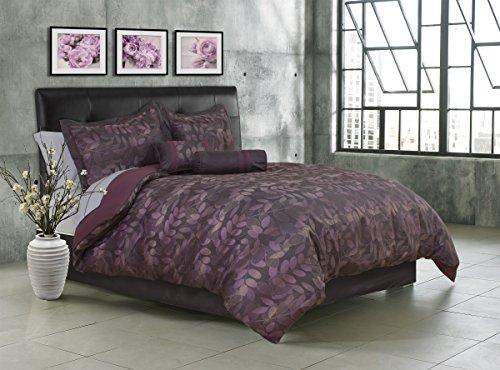 Safdie 60528.7Q.01 Twilight Queen Burgundy Comforter Set (7 Piece)
