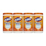 Clorox Disinfecting Wipes, Orange Fusion, 75 Wet Wipes - 4 Packs