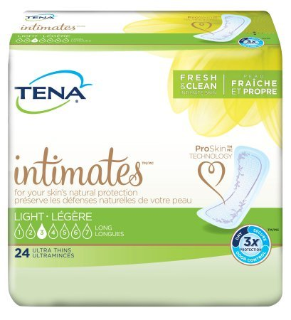 TENA Intimates Active Ultra Thin Long Pads, 24 Count - (Case of 6) by SCA Personal Care
