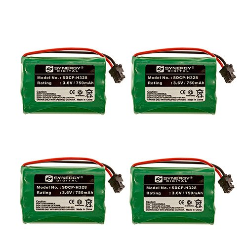 (Radio Shack 43-3815 Cordless Phone Battery Combo-Pack Includes: 4 x SDCP-H328)