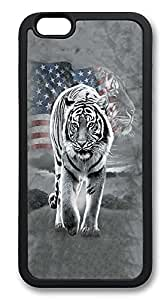 iPhone 6 Cases, Patriotic Tiger Durable Soft Slim TPU Case Cover for iPhone 6 4.7 inch Screen (Does NOT fit iPhone 5 5S 5C 4 4s or iPhone 6 Plus 5.5 inch screen) - TPU Black